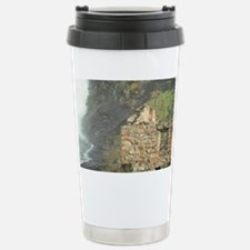 Stone building in the mist of K Travel Mug
