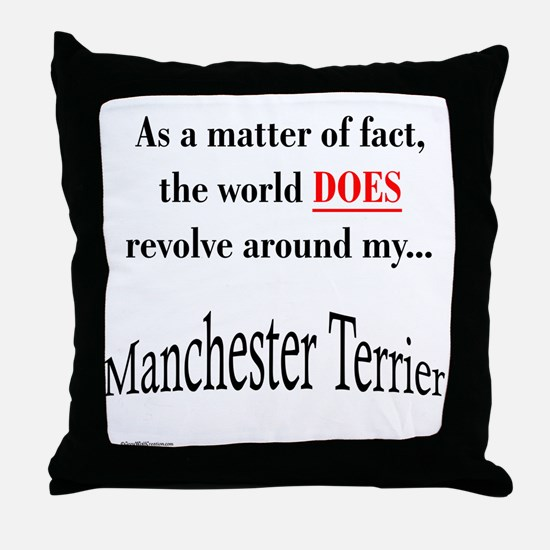 Manchester World Throw Pillow