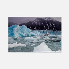 Deep blue icebergs floating near  Rectangle Magnet