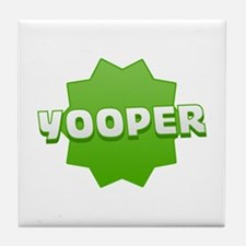 Yooper Badge Tile Coaster