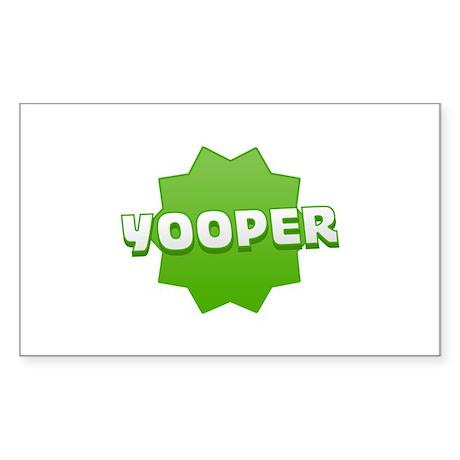 Yooper Badge Rectangle Sticker
