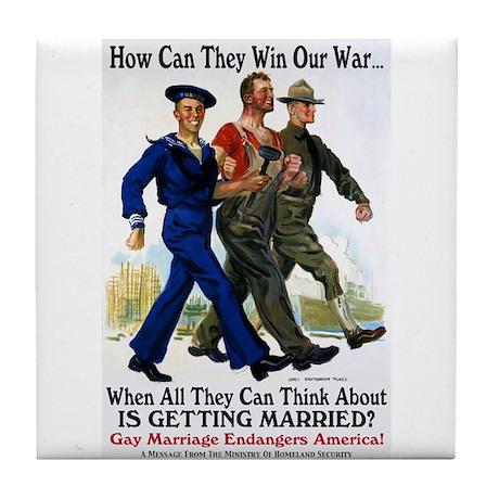 Gays Go To War Tile Coaster