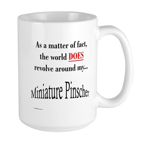 Min Pin World Large Mug