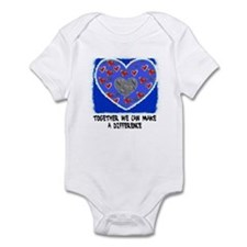 TOGETHER WE CAN MAKE A DIFFERENCE Infant Bodysuit