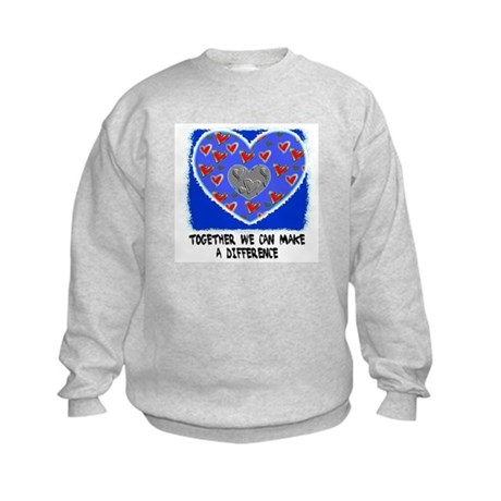 TOGETHER WE CAN MAKE A DIFFERENCE Kids Sweatshirt