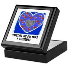 TOGETHER WE CAN MAKE A DIFFERENCE Keepsake Box