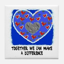 TOGETHER WE CAN MAKE A DIFFERENCE Tile Coaster