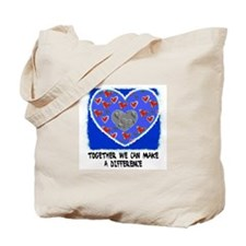 TOGETHER WE CAN MAKE A DIFFERENCE Tote Bag