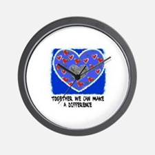 TOGETHER WE CAN MAKE A DIFFERENCE Wall Clock