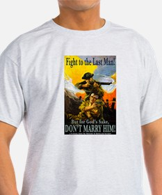 Fight to the Last Man Ash Grey T-Shirt