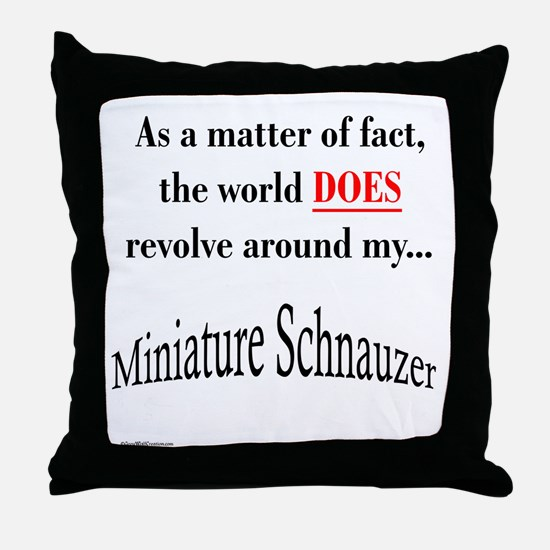 Schnauzer World Throw Pillow