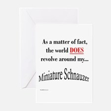 Schnauzer World Greeting Cards (Pk of 10)
