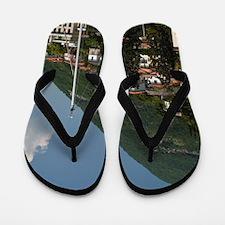 Italy, Como Province, Moltrasio. Lakefr Flip Flops