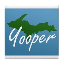 Yooper Blue Tile Coaster