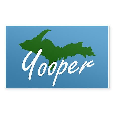 Yooper Blue Rectangle Sticker