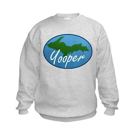 Yooper Blue Kids Sweatshirt