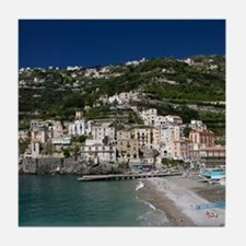 (Amalfi Coast) Maiori: Town View with Tile Coaster