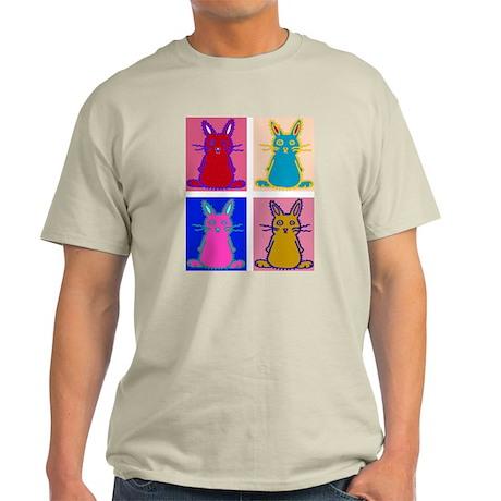 Pop Art Bunnies Natural T-Shirt