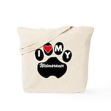 I Heart My Weimaraner Tote Bag