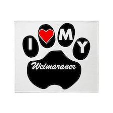 I Heart My Weimaraner Throw Blanket