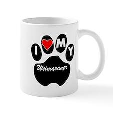 I Heart My Weimaraner Mugs