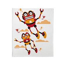 Flyingbots Throw Blanket