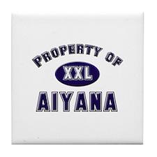 Property of aiyana Tile Coaster