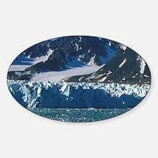 Liefdefjord, Monaco Glacier, touris Sticker (Oval)