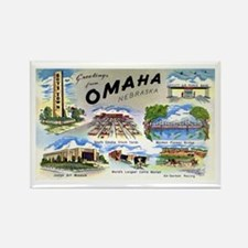 Omaha Nebraska Rectangle Magnet