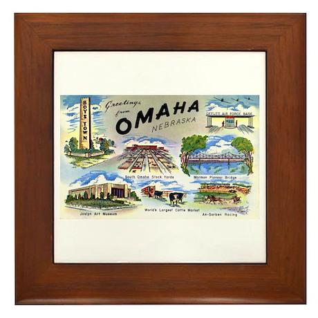 Omaha Nebraska Framed Tile