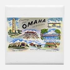 Omaha Nebraska Tile Coaster
