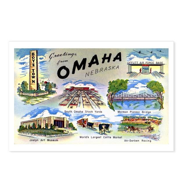 Omaha Nebraska Postcards (Package Of 8) By W2arts