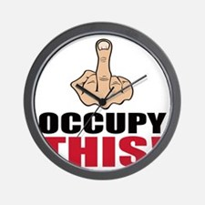 occupy this finger Wall Clock