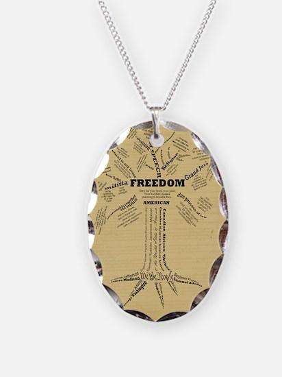 FreedomTree-LGPSTR Necklace Oval Charm