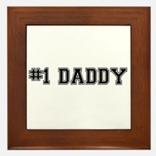 #1 Daddy Framed Tile