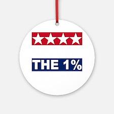 1%(blk) Round Ornament