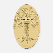 FreedomTree-LG Oval Car Magnet