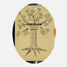 FreedomTree-LG Oval Ornament