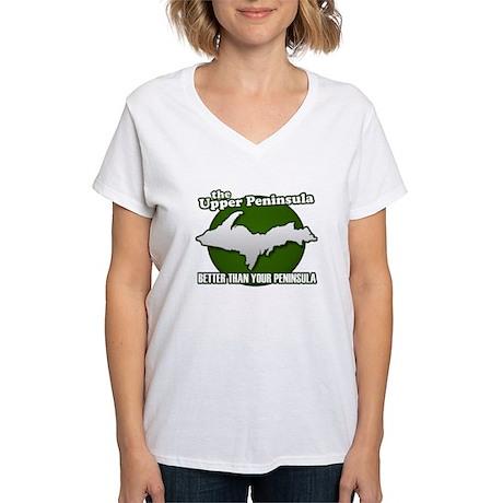 Better Than Your Peninsula Women's V-Neck T-Shirt