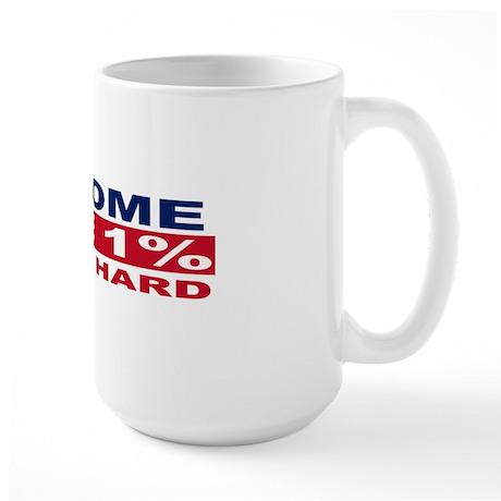 1% bumpersticker Large Mug