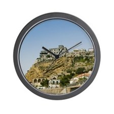 ITALY, Calabria, PIZZO: View of Castell Wall Clock
