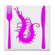 centipede-pink Tile Coaster
