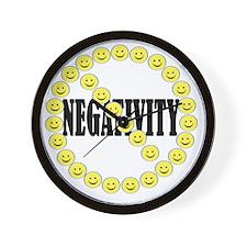 NO Negativity - light Wall Clock