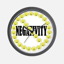 NO Negativity - light Wall Clock