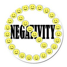 NO Negativity - light Round Car Magnet