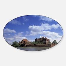 Malbork. Europe's largest Gothic Ca Sticker (Oval)