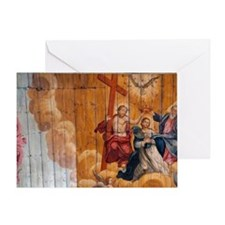 Interior of Our Lady of Monte Church Greeting Card