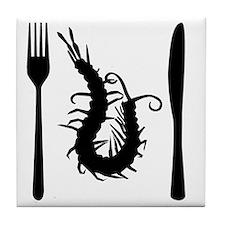 centipede-black Tile Coaster