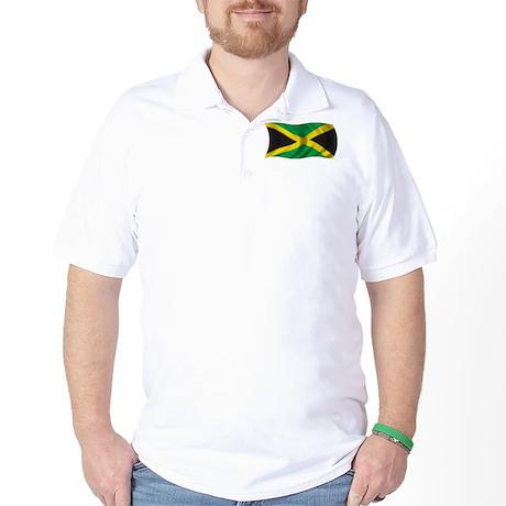 Wavy Jamaica Flag Golf Shirt