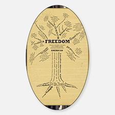 FreedomTree_11x17 Sticker (Oval)